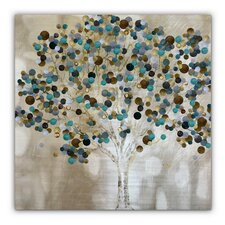 'Teal Tree' Graphic Art on Wrapped Canvas