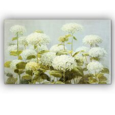 'White Hydrangea Garden' by Danhui Nai Graphic Art on Wrapped Canvas