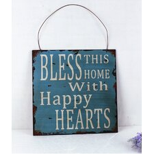 'Bless This Home' Metal Wall Décor