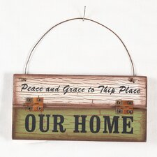 """""""Our Home"""" Wood Wall Décor"""