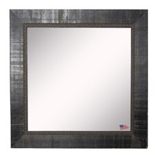 Square Black Wall Mirror