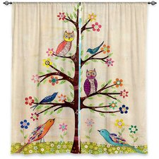 Nature/Floral Semi-Sheer Curtain Panels (Set of 2)