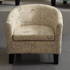 Florino Artistic Script Barrel Chair