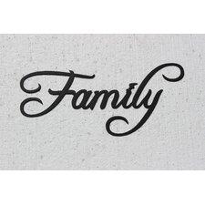 Family Word Sign Fancy Script Wall Décor