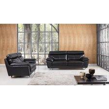 Valencia 2 Piece Leather Living Room Set