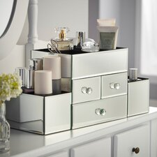 Mirrored Glass Jewelry Box