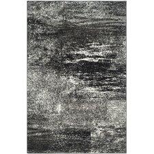 Adirondack Black, Silver/White Area Rug