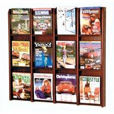 12 Pocket Magazine Wall Display