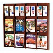 12 Magazine / 24 Brochure Wall Display