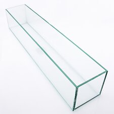 Rectangle Floor Glass Pot Planter