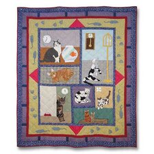 Cats Cotton Throw