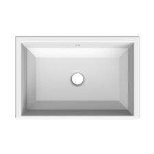 Tech Rectangular Undermount Bathroom Sink with Overflow