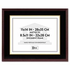 quick view hardwood documentcertificate frame with mat 11 x 14