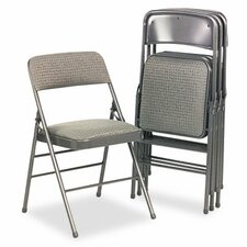 Bridgeport Deluxe Fabric Padded Seat & Back Folding Chair (Set of 4)
