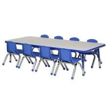 "9 Piece Rectangular Activity Table  & 10"" Chair Set"