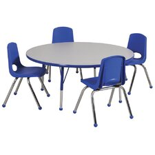 """5 Piece Round Activity Table  & 12"""" Chair Set"""