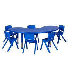 7 Piece Kidney Activity Table & Chair Set