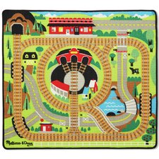4 Piece Round the Rails Train Playmat Set