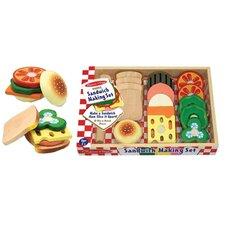 17 Piece Sandwich Making Play Set