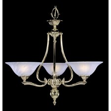 Fin De Siecle 3-Light Shaded Chandelier