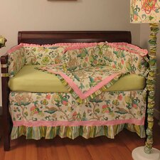 Cirque Pink 4 Piece Crib Bedding Set