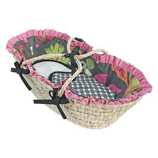 Sleek Slate Moses Doll Basket