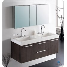 quick view black senza quot double opulento modern bathroom vanity : 55 inch double sink bathroom vanity