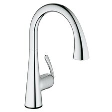 Ladylux Single Handle Deck Mount Kitchen Faucet with Dual Spray Pull Down