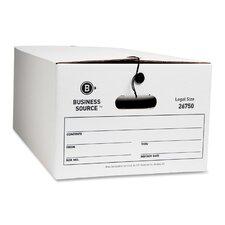 Storage Box, Legal, Whitem, 12-Pack