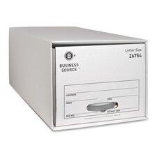 Storage Drawer, Letter, White, 6-Pack
