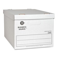 """Storage File, Letter/Legal, 12""""x15""""x10"""", White, 12-Pack"""