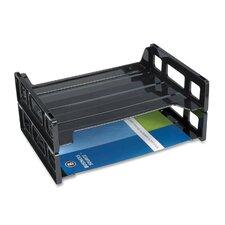Stacking Tray, Side Load, Letter, Black (Set of 3)
