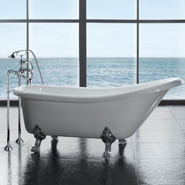 Bathtubs you 39 ll love wayfair for Oval garden tub