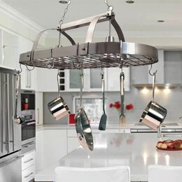 Lighted Hanging Pot Racks · Pool Table Lights