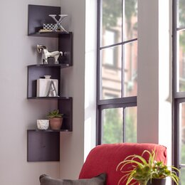 Charming Wall Mounted Corner Shelves Part 4