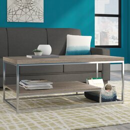 table in living room. Wood Top Coffee Tables You ll Love  Wayfair