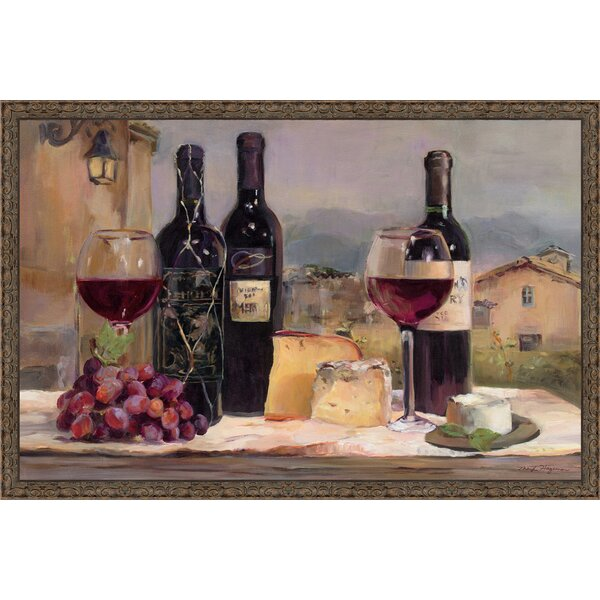 kitchen pantry cabinet wine in tuscany framed painting print amp reviews joss amp 21911
