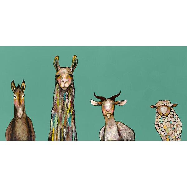 Donkey Llama Goat Sheep Canvas Print Amp Reviews Joss Amp Main