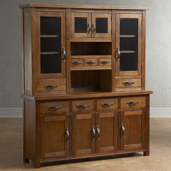 Pine China Cabinet Hutch: Birch Lane Mercer Solid Pine China Cabinet & Reviews