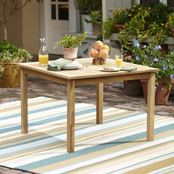 Birch Lane Summerton Teak Square Dining Table Reviews