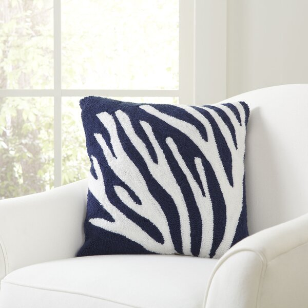 Birch Lane Staghorn Coral Hooked Pillow Cover Birch Lane