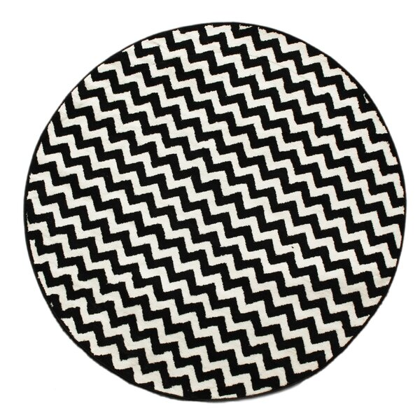 Miley White Amp Black Chevron Hand Tufted Area Rug Amp Reviews