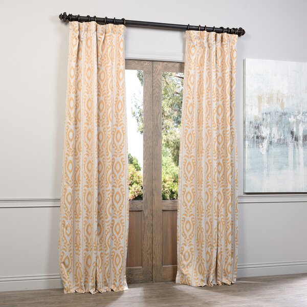 Curtains Ideas blackout pinch pleat curtains : Martin Ikat Blackout Pinch Pleat Single Curtain Panel & Reviews ...