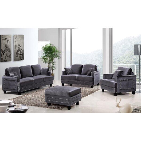 Meridian Furniture Usa Ferrara Nailhead Sofa Reviews Birch Lane