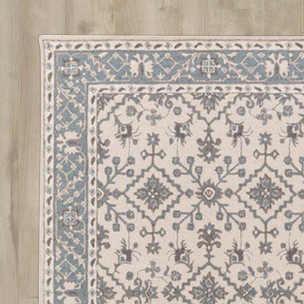 Castille Beige & Teal Wool Hand-Tufted Area Rug & Reviews