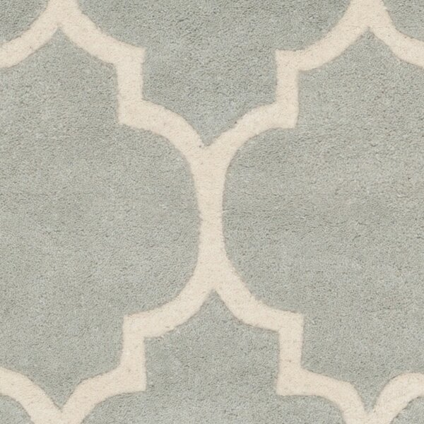 Chatham Gray Amp Silver Geometric Wool Hand Tufted Area Rug