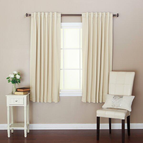 Thomas Solid Thermal Rod Pocket Curtain Panel Pair & Reviews ...