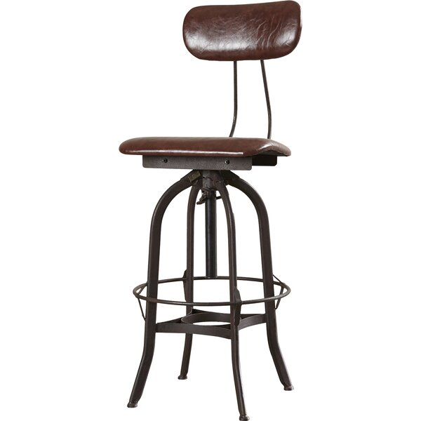 Adjustable Height Swivel Bar Stool With Cushion Amp Reviews