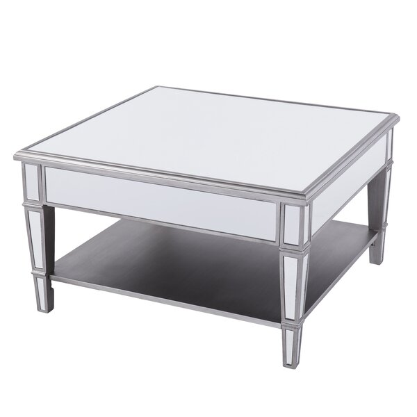 Caspian Mirrored Square Coffee Table Joss Main