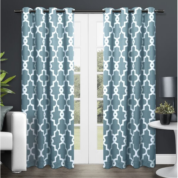 Skyline geometric blackout grommet curtain panel reviews Blackout curtains city skyline